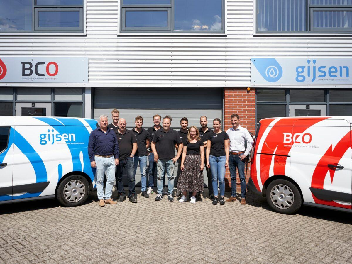Groepsfoto van de bedrijven Gijsen en BCO